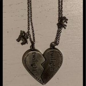 Twighlight broken heart necklace.